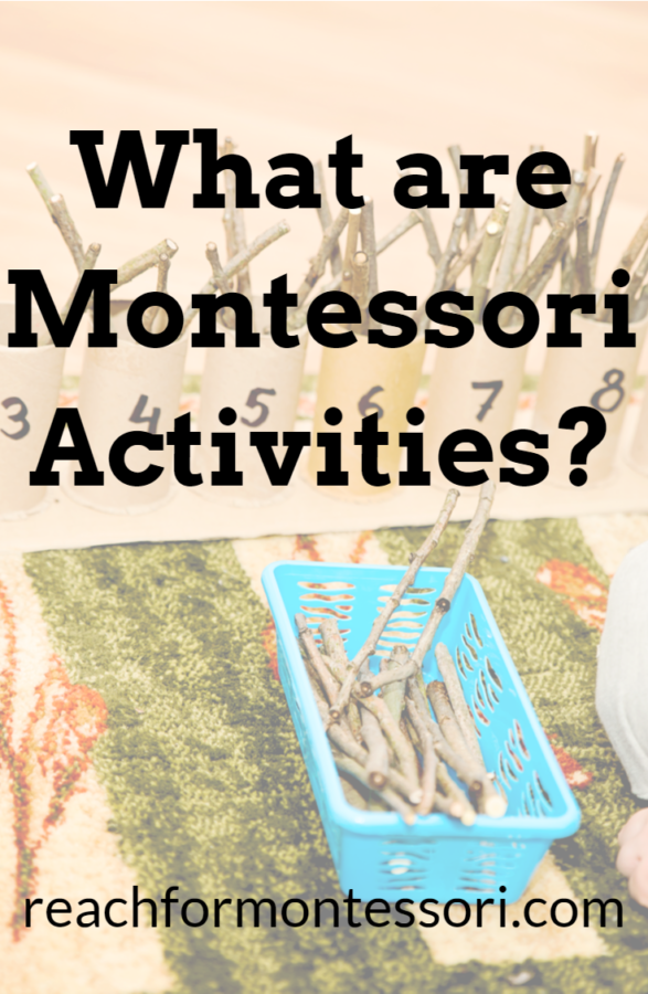 What are Montessori activities Pinterest image