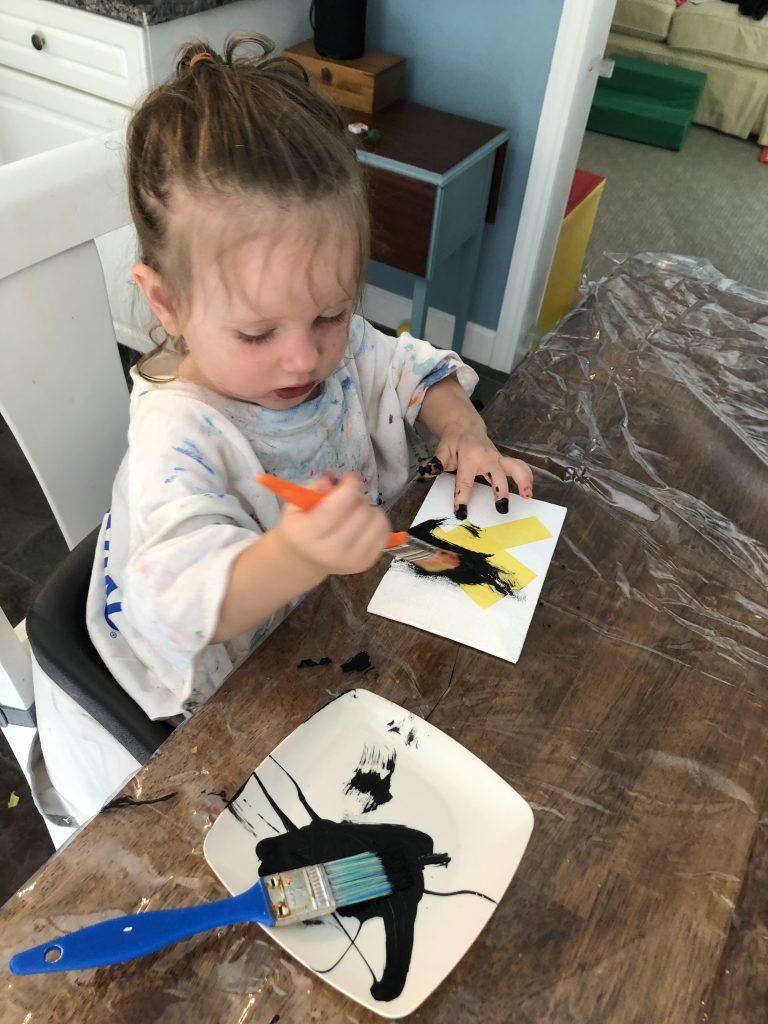 Paint resist high contrast cards
