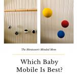 DIY Montessori baby mobile activity pinterest image.