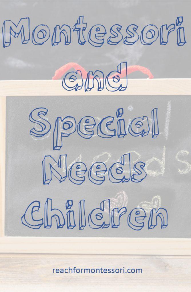 Montessori and Special Needs Pinterest Image