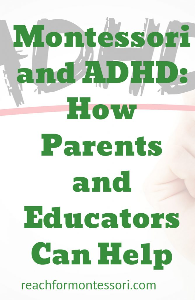 Montessori and ADHD Pinterest Text