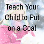 how to put on a coat pinterest graphic.