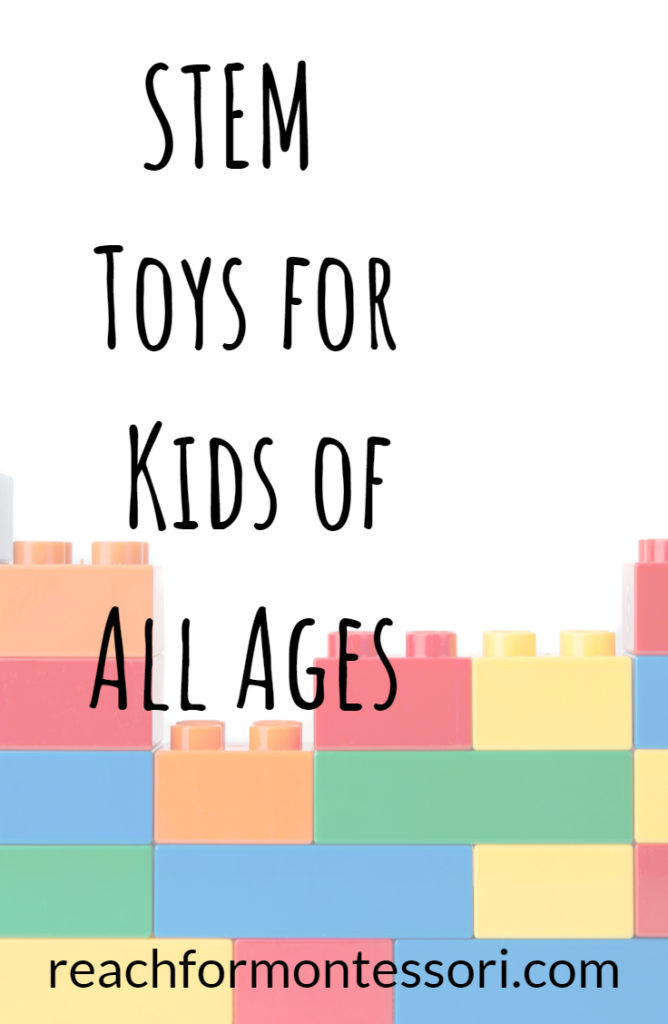 STEM toys for kids of all ages pinterest image.