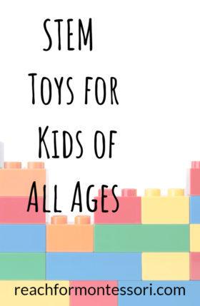 STEM toys for kids of all ages pinterest image.