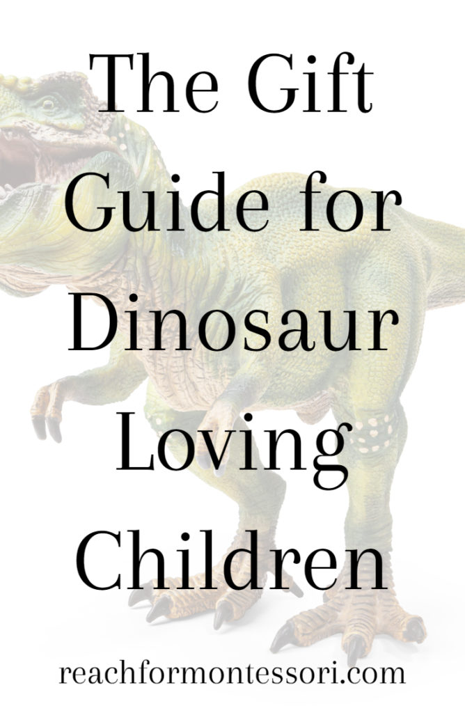 Dinosaur gifts for kids pinterest graphic.