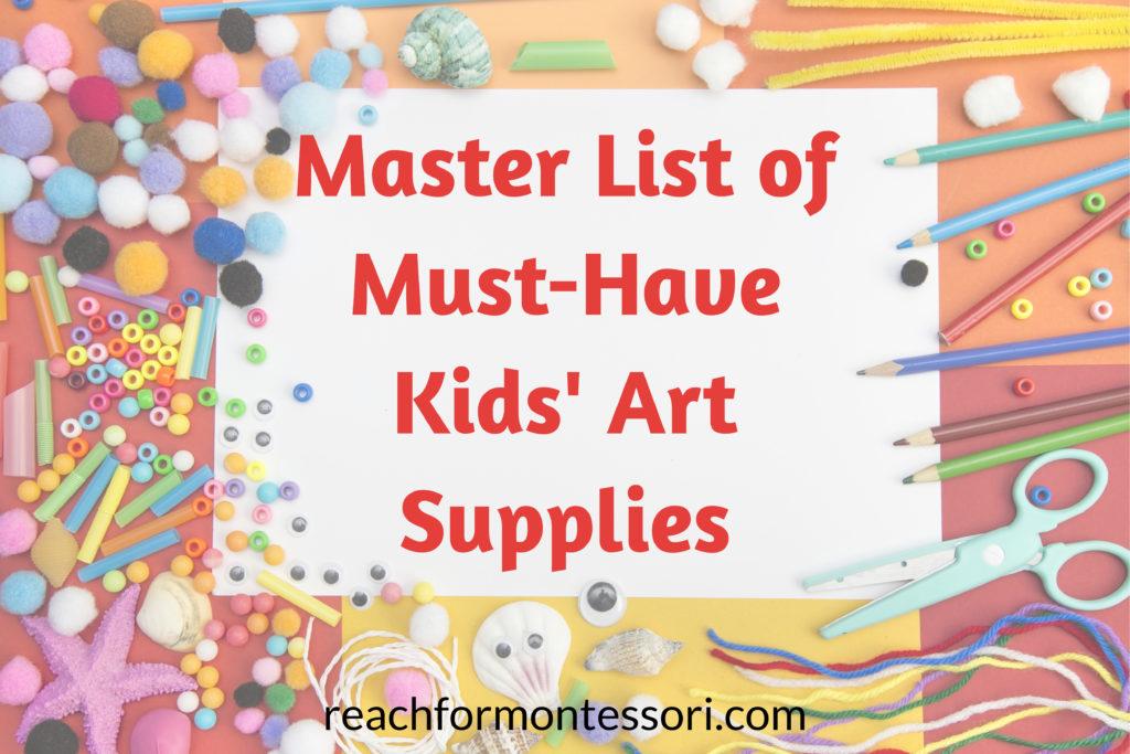Art supplies for kids.