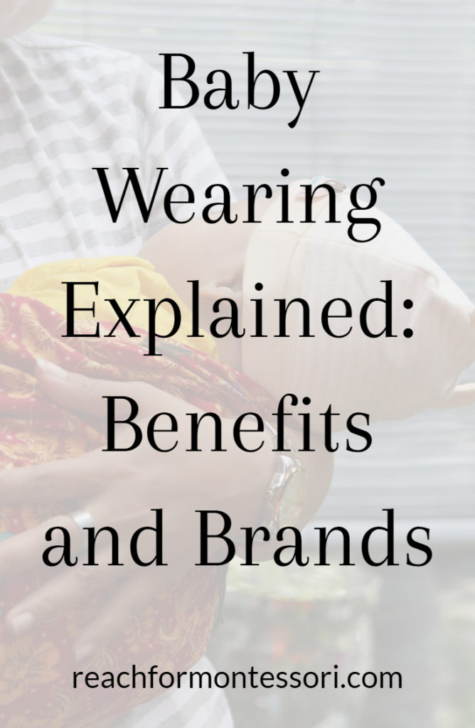 baby wearing pinterest graphic
