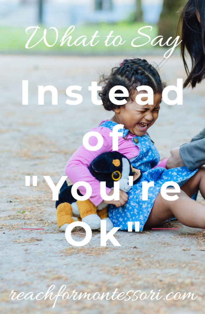 """What to Say Instead of """"You're Ok"""" Pinterest Graphic"""