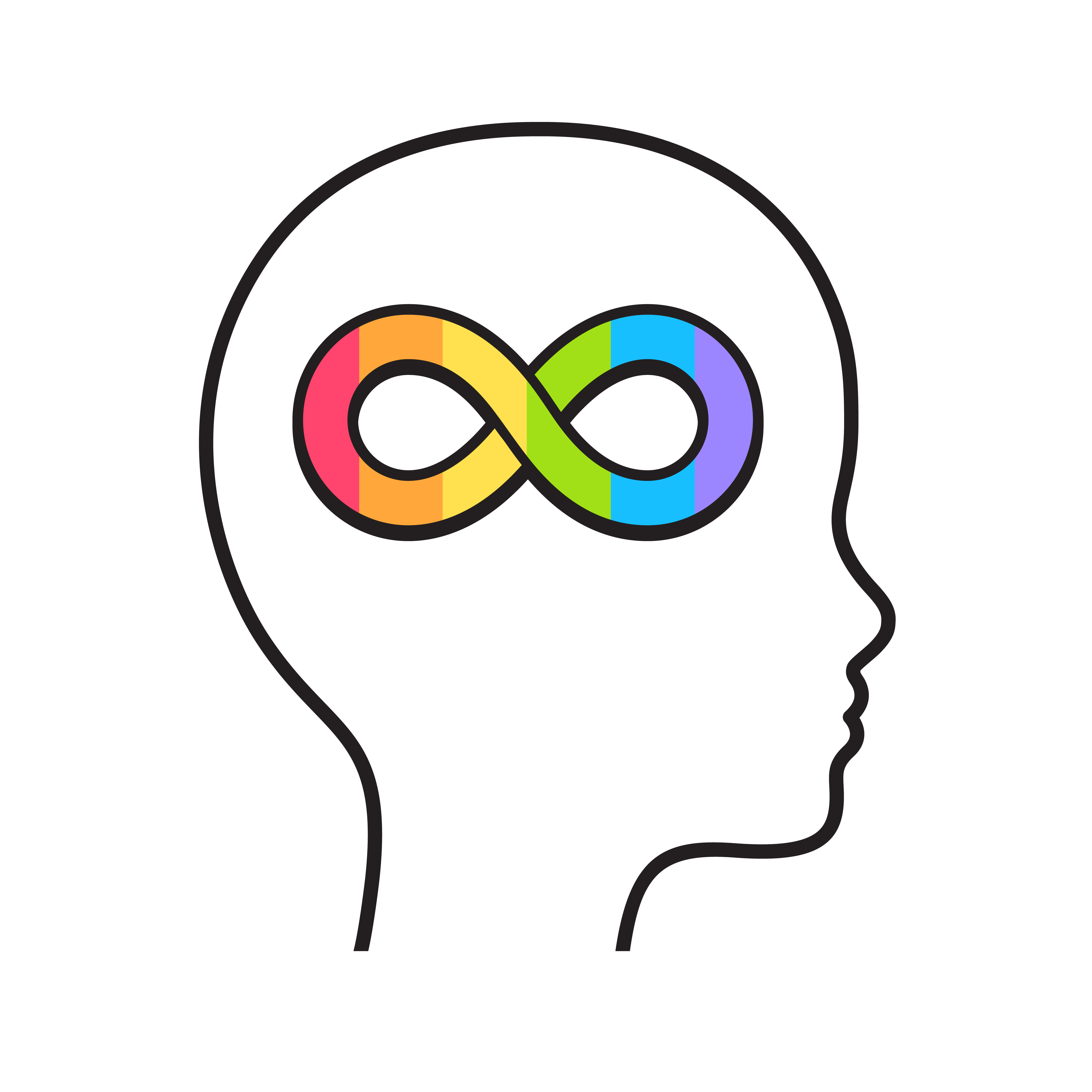 Neurodiversity in the Montessori classroom (nerodiversity symbol)