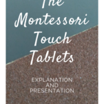 montessori touch tablets pin.
