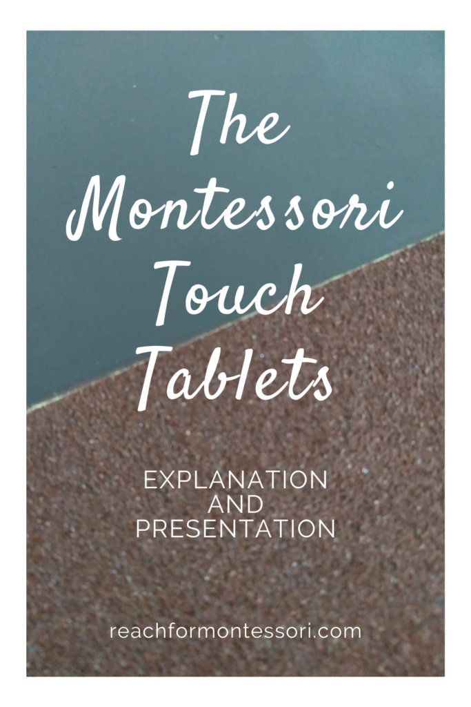 montessori touch tablets pin