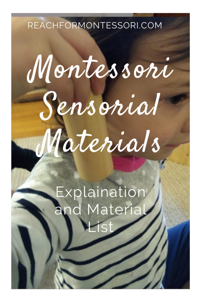 What are Montessori materials, child using sound cylinders
