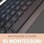 Montessori blogs Montessori at home Pinterest image.
