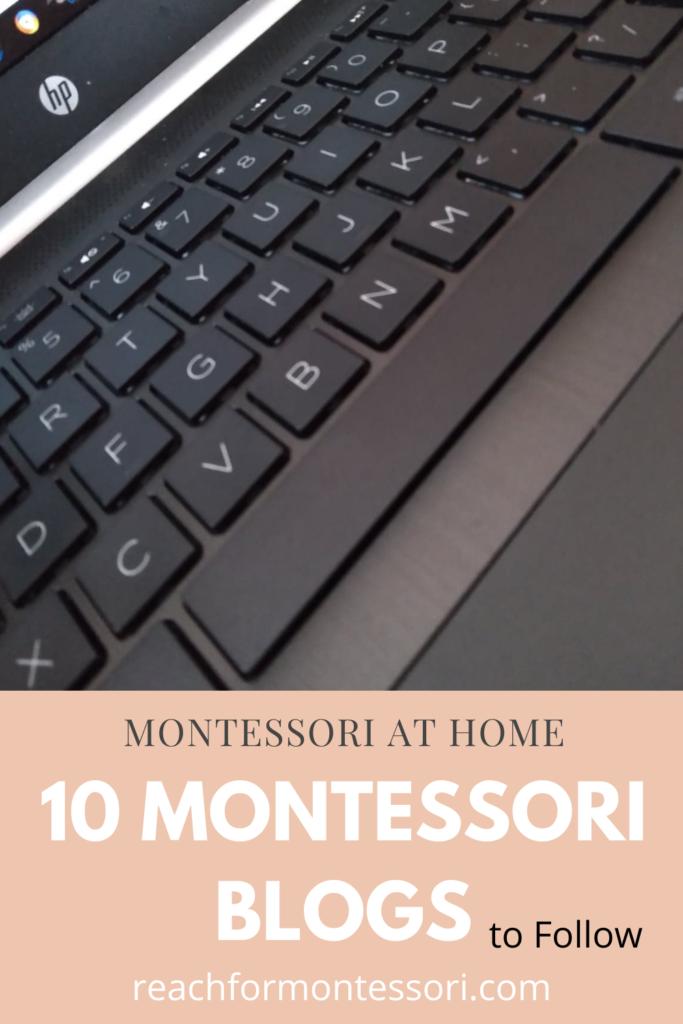 Montessori blogs Montessori at home Pinterest image