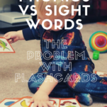 Phonics vs sight words Pinterest graphic.