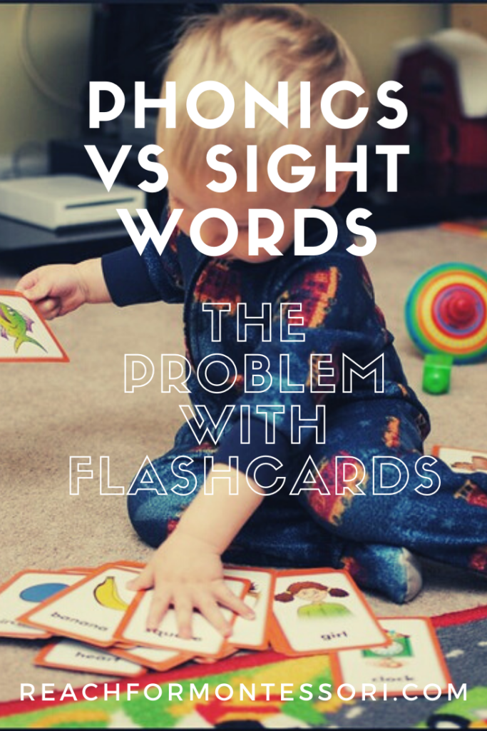 Phonics vs sight words Pinterest graphic