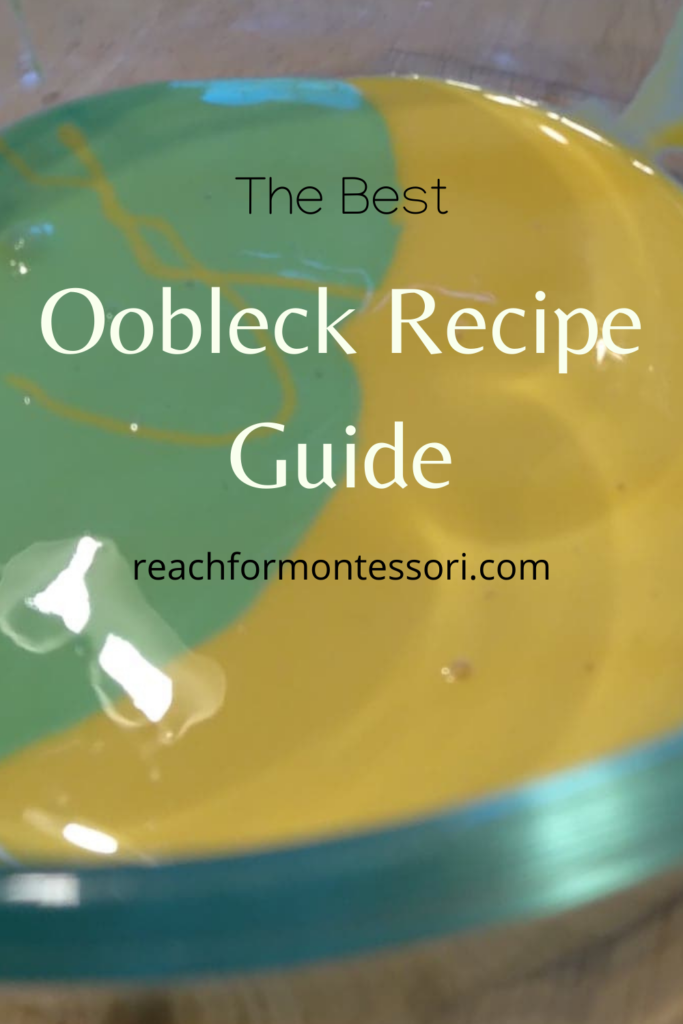 Oobleck Recipe Pinterest Image