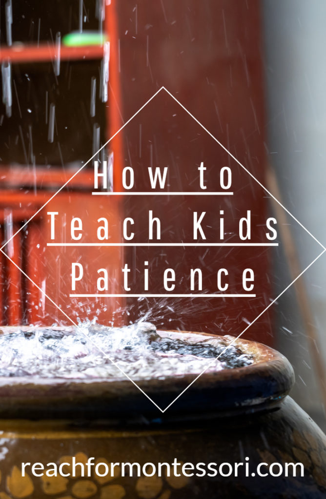 How to teach kids patience Pinterest image