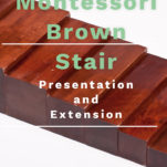 the montessori brown stair pin.