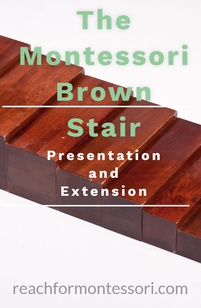 the montessori brown stair pin
