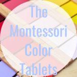 montessori color tablets pin.
