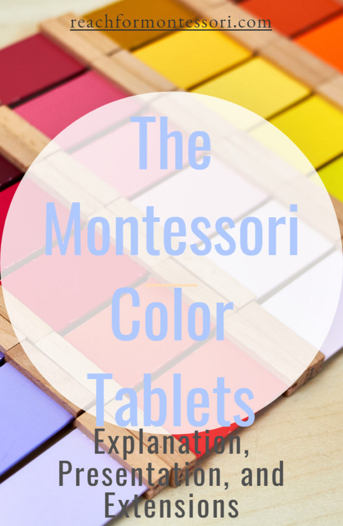 montessori color tablets pin