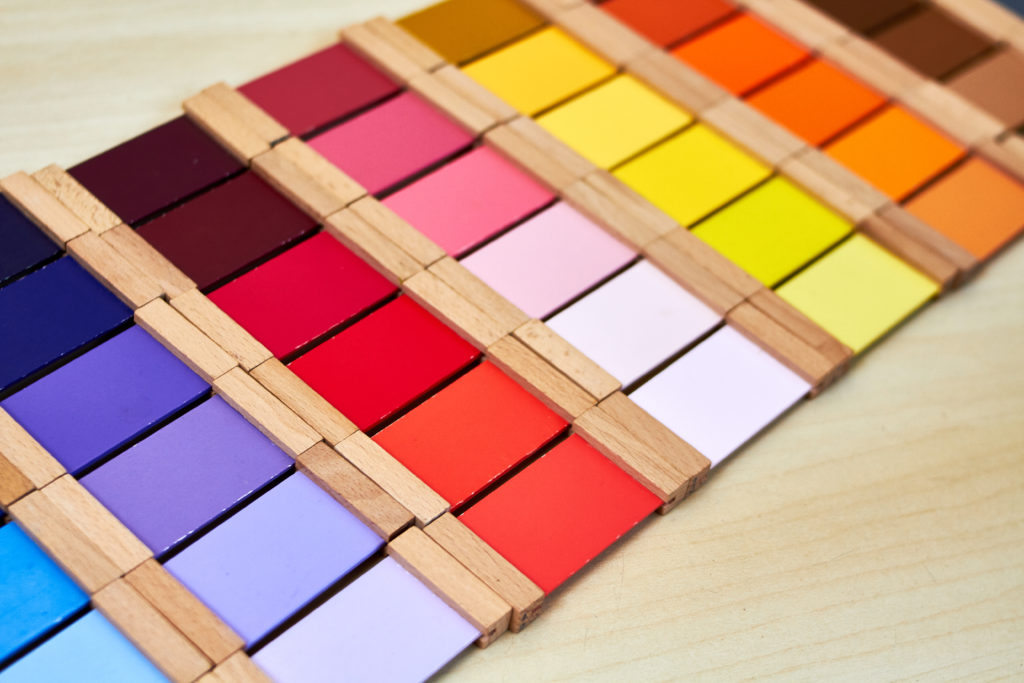 montessori color tablets.