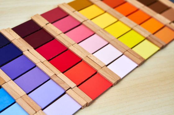 montessori color tablets.