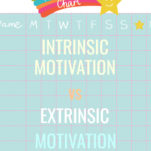 Intrinsic motivation vs extrinsic motivation Pinterest image.