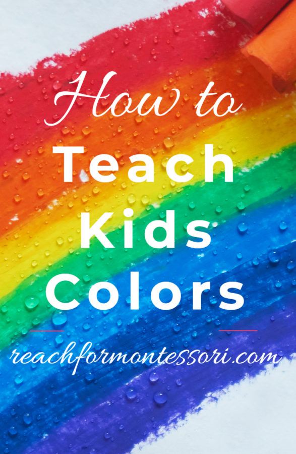 How to teach kids colors Pinterest graphic