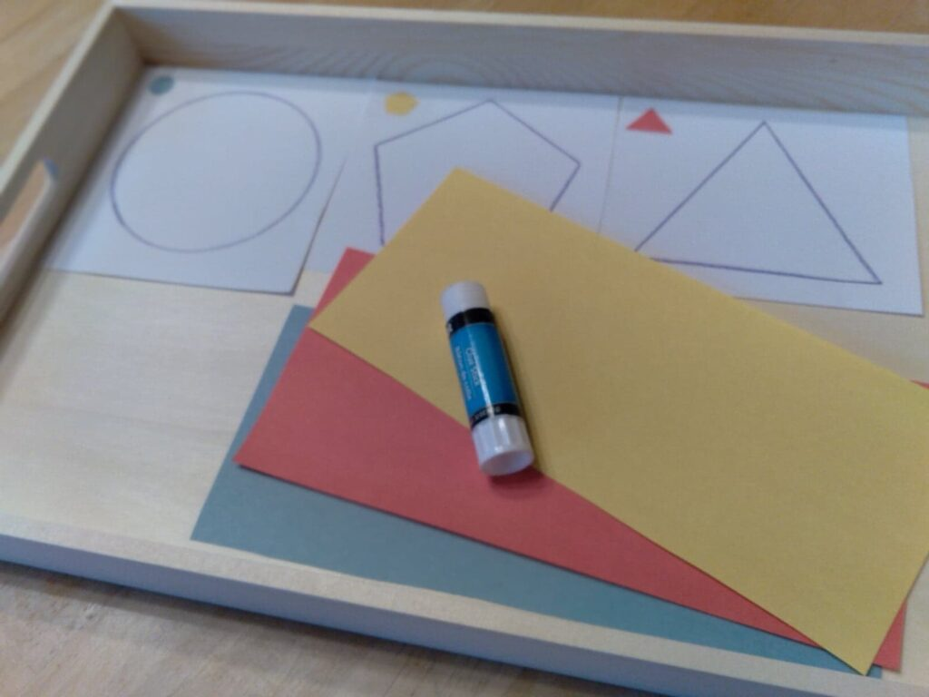set up for paper tearing activity.