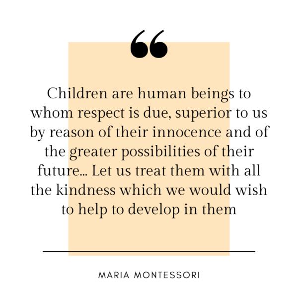 maria montessori quote on consent.
