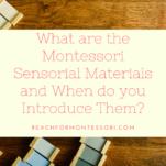 montessori sensorial materials by age pin.