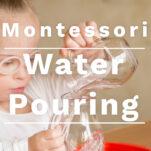 montessori water pouring activity pin.