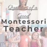 qualities of a good montessori teacher pin.