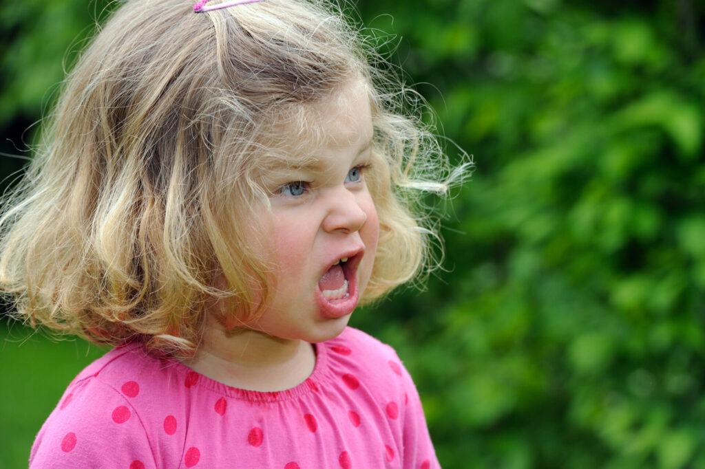 child yelling.