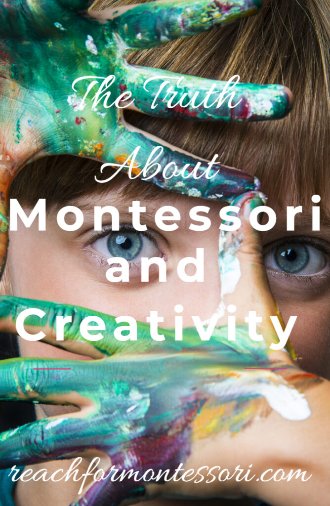 montessori and creativity pin image.