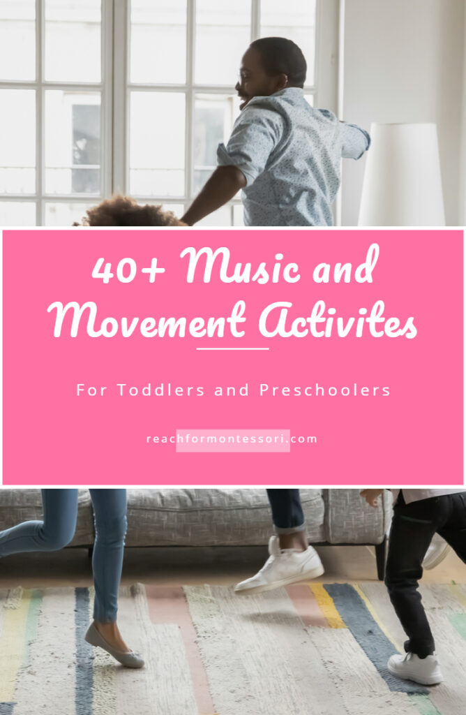 music and movement activities pin.