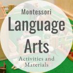 Montessori language activities and materials pin.