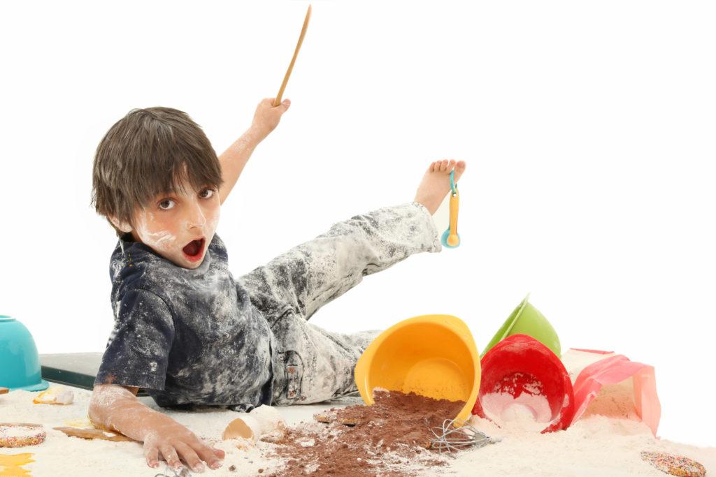 child making a mess.
