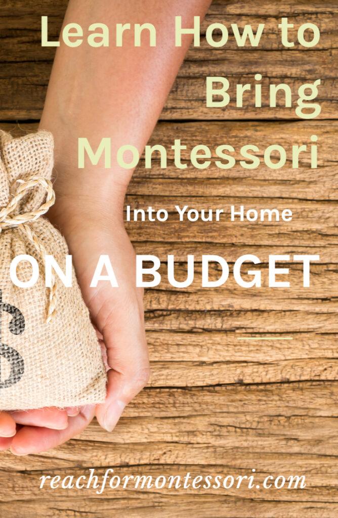 montessori on a budget pin.