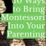 montessori parenting pin.