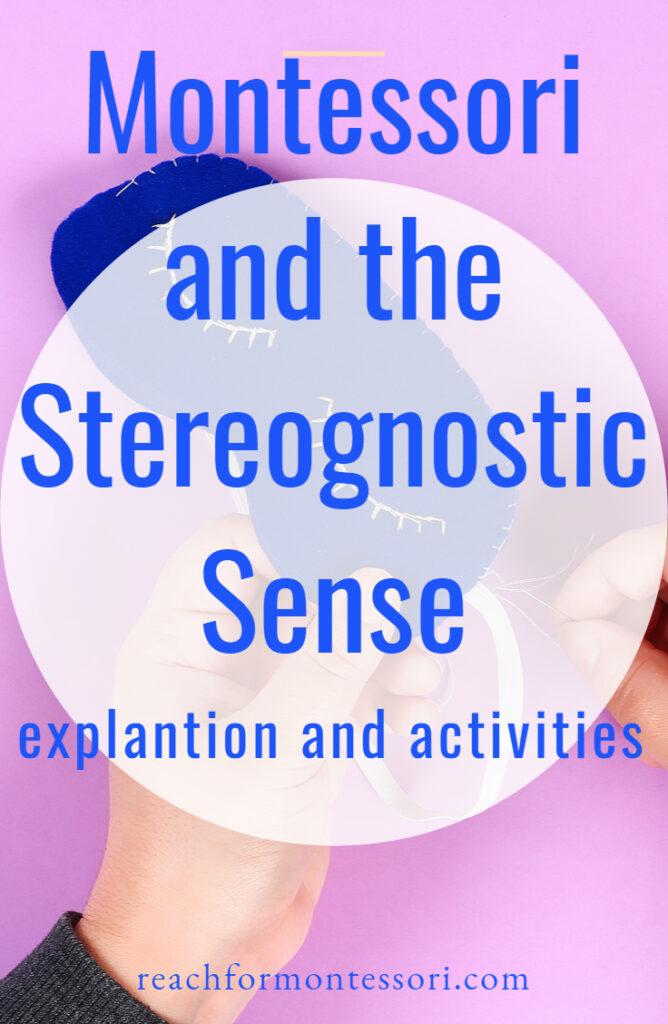 montessori and stereognostic sense pin.