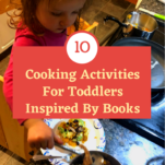 cooking activities for toddlers pinterest image.
