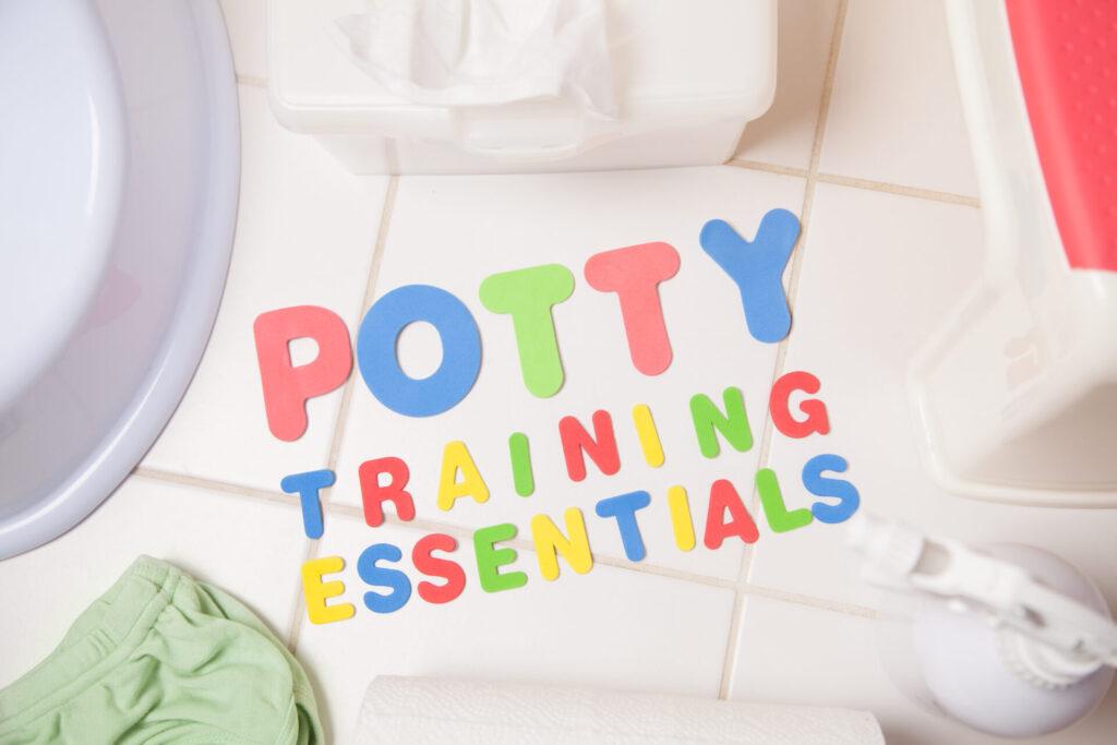 montessori potty training essentials image.