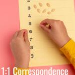 1:1 correspondence montessori math pin.