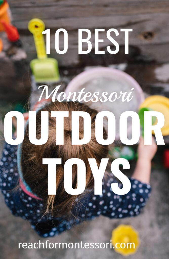 montessori outdoor toys pin.