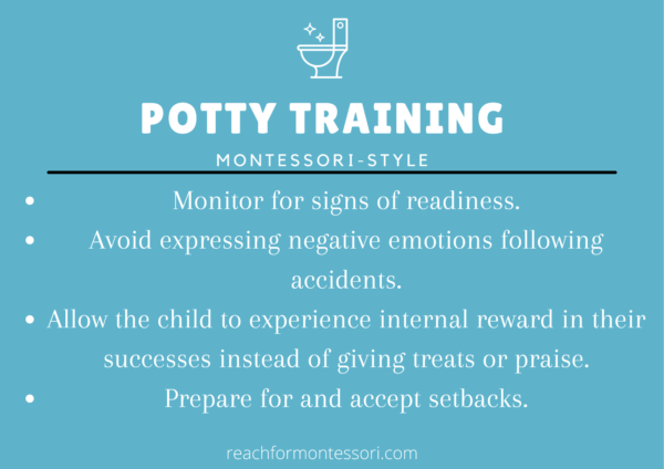 Image of Montessori potty training infographic.