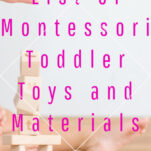 montessori toddler toys and materials pinterest image.