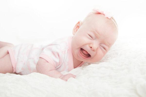 image of baby hates tummy yime.